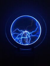 "16"" Blue Plate Disk Plasma Lightning Lamp Light Shine Bar Holiday Party Decor"