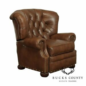 Bradington Young Tufted Brown Leather Recliner
