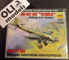 1/144 German Dive Bomber JUNKERS Ju-87 B2 STUKA - Zvezda 6123