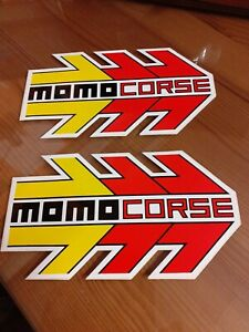Pair Of vintage  Momo Corse Decal Stickers Large