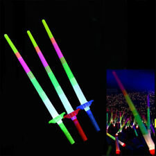 RETRACTABLE LED LIGHT FLASHING GLOW STICKS WANDS TOYS PARTY WEDDING DECOR STRICT