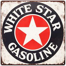 "White Star Gas Gasoline Garage Shop Mancave Metal Sign Repro 12x12"" 60360"