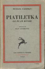 Michael Farbman . PIATILETKA . LE PLAN RUSSE . 1931 .
