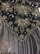 Belly Dancing Costume Hip Scarf Belt Waist Bead Black Sequins