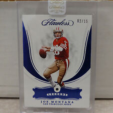 2018 Panini Flawless Legends #82 Joe Montana 49ers SAPPHIRE GEM Relic #02/15