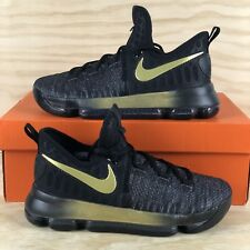 new products fc615 dff68 Nike Zoom Kd 9 Durant grade-school Baloncesto Zapatos Negro Oro 855908-007  jóvenes tamaño 6.5