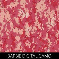 Barbie Digital Pink Camo Dip Stick Hydrographic Film gun cell phone xbox control