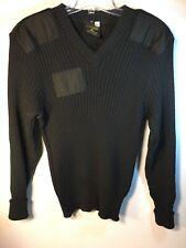 Commando Sweater Black 100% Wool Mens Size 42 Made In England Citadel SAS