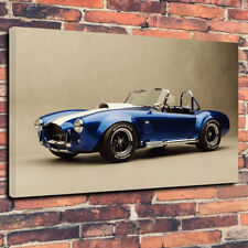 "Classic Cobra Vintage Car Printed Box Canvas Picture A1.30""x20"" 30mm Deep Frame"
