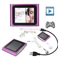 """6TH GENERATION MP3 MP4 MUSIC MEDIA PLAYER FM Games Movie 1.8""""LCD SCREEN NEW FT"""