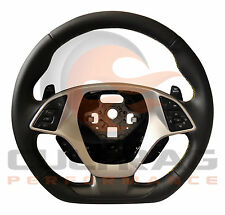 2016 C7 Corvette D Shaped Steering Wheel Manual Leather Yellow Stitching
