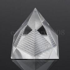 Clear Crystal Pyramid Egypt Egyptian Clear Quartz Stone Home Office Desk Decor