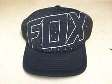 NEW FOX RACING ADULT MENS BLACK SNAPBACK SNAP BACK HAT CAP LID FOX DOTS UNKNOWN