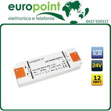Trasformatore per strisce LED 24V 12W ultrasottile piatto materiale ignifugo