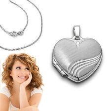 Foto Medaillon Bilder Amulett Flammendes Herz Anhänger Weißgold Gold 375 9 Kt