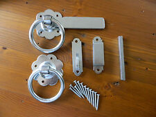 "ZINC PLATED RING GATE / DOOR LATCH 6"" WITH MATCHING SCREWS"