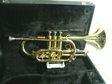 """Vintage Holton """"C-602"""" Cornet w/EXTRAS;Brass Lacquer, Original Mouthpiece & Case"""