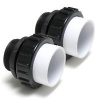 "Threaded Union Pump Kit 2"" MPT x 2"" Slip for Pentair IntelliFlo Pool Pump 2-pack"