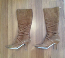 Jimmy Choo light brown long suede boots size 39