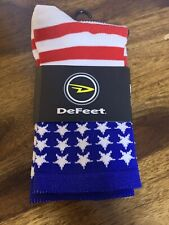 "defeet aireator 5"" USA White Red Blue Size Large"