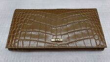 Longchamp Roseau Croc Embossed Leather Continental Wallet