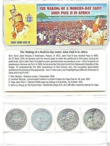 Pope John Paul II 4 Coin 1978 Set from the Congo,Uncirculated