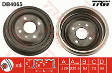 TRW DB4065 Brake Drum Rear 2 Year Warranty