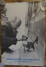 Unione Amici del cane y del gatto POSTER Friends of dogs and cats Italian