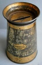 """Countryside"" Milk Can Tin Still Bank from the early 1900's"