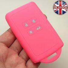 4 Button Silicone Remote Key Fob Cover Case For Renault Koleos Kadjar Pink New