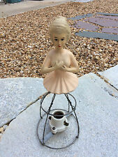 Vintage Victorian Ladies Parlor Lamp Plaster Half Doll Lamp Restoration Project