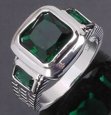 Mens Size 10  Jewelry Engagement Emerald 10KT Gold Filled Wedding Costly Rings