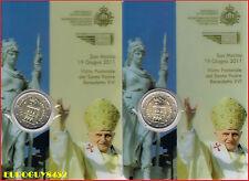 SAN MARINO - MINIBLISTER 2 € 2011 BU - BEZOEK PAUS BENEDICTIS XVI