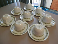 VINTAGE CORELLE CRAZY DAISY/SPRING BLOSSON 8 COFFEE CUP CUPS & 8 SAUCER SAUCERS