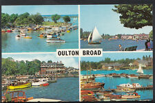 Suffolk Postcard - Views of Oulton Broad, Yacht Basins, The Wherry Hotel  C1056
