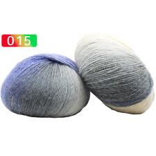 1 Ball 50g Hand-woven Rainbow Colorful Crochet Cashmere Wool Blend Yarn Knitting