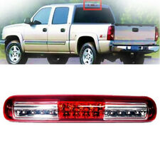 THIRD BRAKE LIGHT FIT FOR GMC SIERRA CHEVY SILVERADO 99-06 LED RED CLEAR