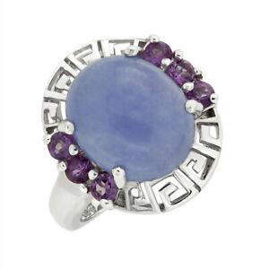 Ring Damenring Silberring mit Amethyst aus 925er Silber Ring mit Amethyst