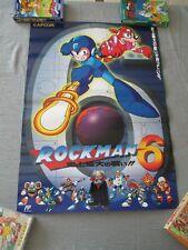 >> MEGA MAN MEGAMAN VI ROCKMAN 6 CAPCOM FAMICOM NES B2 SIZE OFFICIAL POSTER! <<
