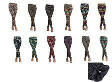 Lot of 12 Women Warm Winter Knit Design Nordic Leggings Xmas Tight Fleece M/L