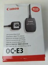 Canon Off-Camera Shoe Cord OC-EE New In Box EOS Accessories #4359