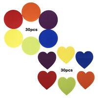 30 PCS sortierte Farben-Boden-Teppich, der Punkt-Markierungen für Yoga-Trainings
