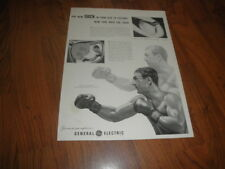 "Vintage 1953 ROCKY MARCIANO -General Electric AD-""New Sock in  Old T.V.Picture"""
