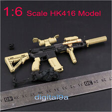 "1:6 Scale Assembling Sand/Tan HK416 Model Gun Weapon Accessories F 12"" Figure uk"