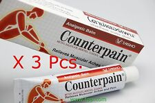 3 X 120 G.COUNTERPAIN CREAM OIL SPORT MASSAGE BOXING KICK ATHLETES ACHES RELIEF