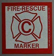FIRE RESCUE WINDOW  MARKERS - ONE KID FINDER DECAL - TOT FINDER - FREE SHIPPING