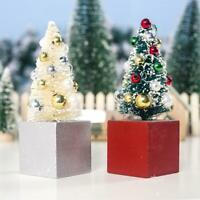 2 Pcs Mini Christmas Tree Festival Home Party Ornaments Xmas Desktop Decor Gifts