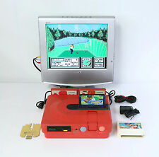 """SHARP Twin Famicom Console New Belt """"Excellent +"""" w/2 Games Tested Properly!!!"""