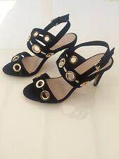cb6d0d3e3b0 Coast Black Suede And Gold Detail Shoes