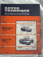 Revue Technique Automobile N°379/ Peugeot 304 Diesel